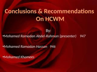 Conclusions & Recommendations  on HCWM.pptx