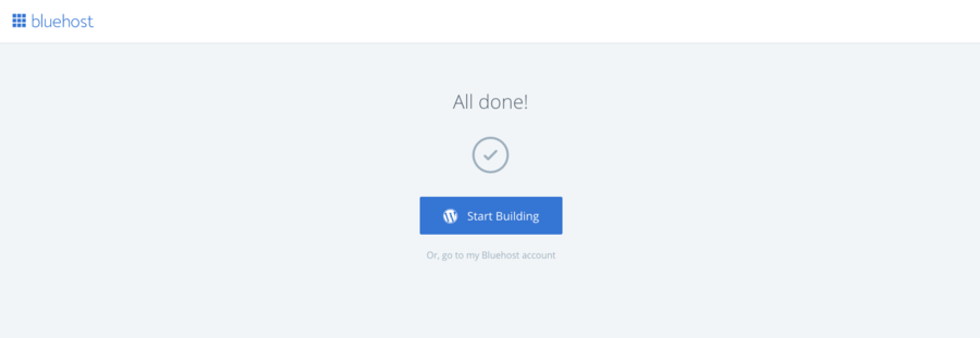 Bluehost-Wordpress-Start