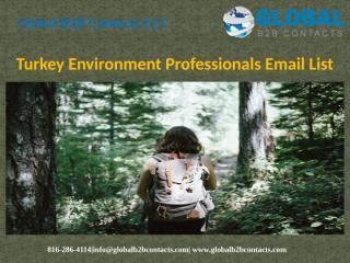 Turkey Environment Professionals Email List.pptx