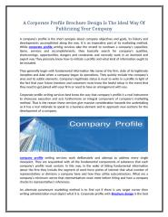 A Corporate Profile Brochure Design Is The Ideal Way Of Publicizing Your Company.doc