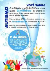 Cartaz do Dia Mundial de Conscientização do Autismo - Brasil - 2011