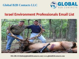 Israel Environment Professionals Email List.pptx