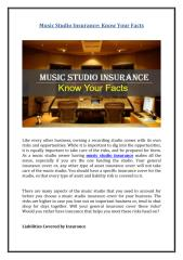 Music Studio Insurance - Know Your Facts.pdf