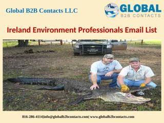Ireland Environment Professionals Email List.pptx